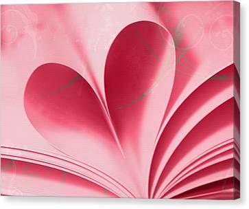 Heart A Flutter Canvas Print by Rebecca Cozart