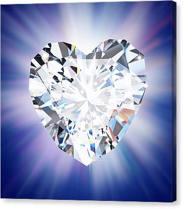 Heart Diamond Canvas Print by Setsiri Silapasuwanchai