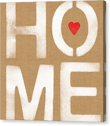 Heart In The Home- Art By Linda Woods Canvas Print by Linda Woods