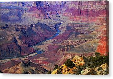Heart Of The Canyon Canvas Print by See My  Photos