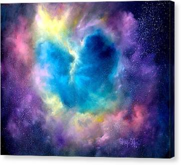 Heart Of The Universe Canvas Print by Sally Seago