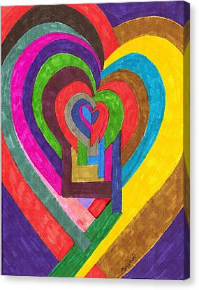 Heart Under Rennovation Canvas Print by Brenda Adams