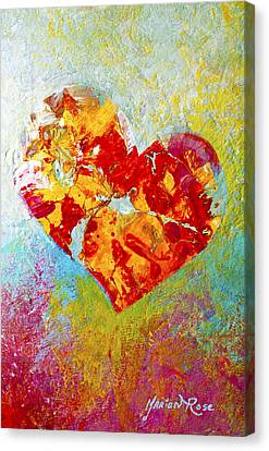 Heartfelt I Canvas Print by Marion Rose