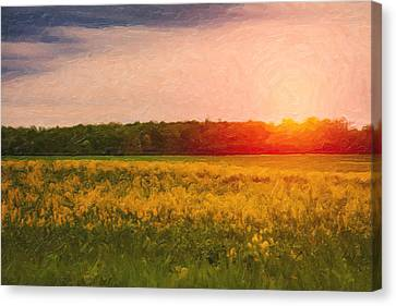 Heartland Glow Canvas Print by Tom Mc Nemar
