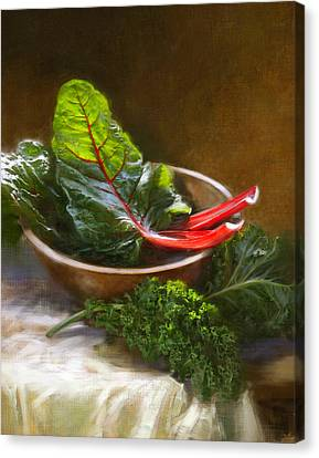 Hearty Greens Canvas Print by Robert Papp