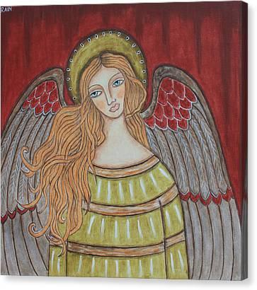 Heavenly Angel Canvas Print by Rain Ririn
