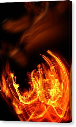 Heavenly Flame Canvas Print by Donna Blackhall