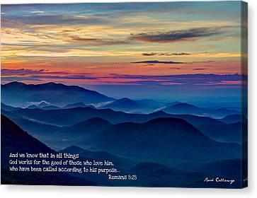 Heavenly View Sunrise And Faith Canvas Print by Reid Callaway