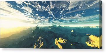Heavens Breath 16 Canvas Print by The Art of Marsha Charlebois
