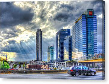 Heavens Door Midtown Atlanta Georgia Canvas Print by Reid Callaway