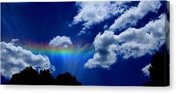 Heavens Rainbow Canvas Print by Linda Sannuti