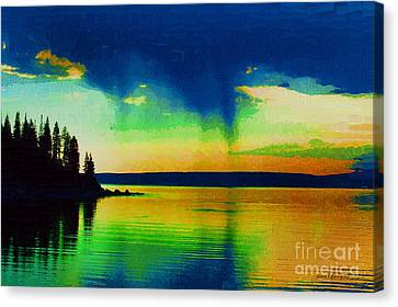 Heaven's Rest Canvas Print by Diane E Berry