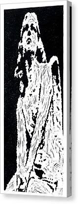 Heavenward --  Hand-pulled  Linoleum Cut Canvas Print by Lynn Evenson