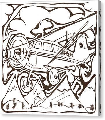 Heavier Than Air Maze Canvas Print by Yonatan Frimer Maze Artist