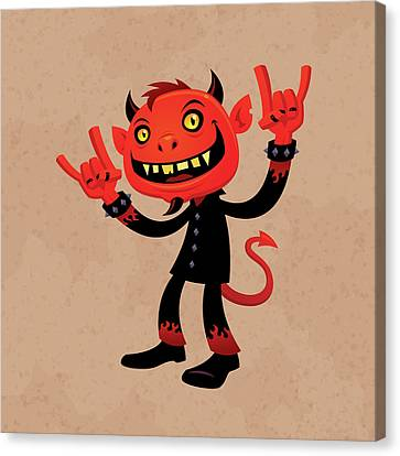 Heavy Metal Devil Canvas Print by John Schwegel