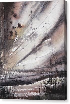 Heavy Rain Canvas Print by Keran Sunaski Gilmore