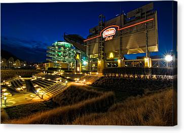 Heinz Field At Night Canvas Print by Mark Dottle