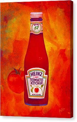Heinz Tomato Ketchup Canvas Print by Nop Briex