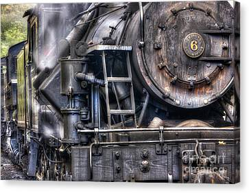 Heisler Steam Engine Canvas Print by Jerry Fornarotto