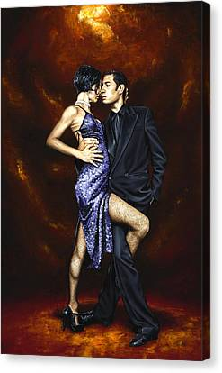 Held In Tango Canvas Print by Richard Young