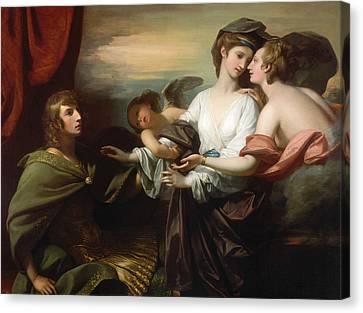 Helen Brought To Paris  Canvas Print by Benjamin West