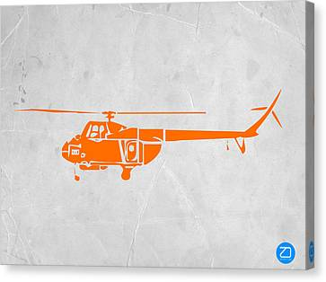 Helicopter Canvas Print by Naxart Studio