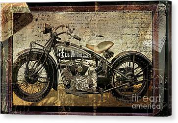 Hell On Wheels Canvas Print by Mindy Sommers