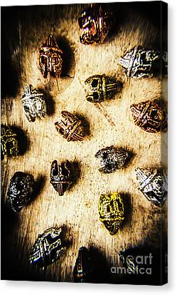 Helmets From The Iron Guard Canvas Print by Jorgo Photography - Wall Art Gallery