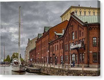 Helsinki Harbor Canvas Print by Capt Gerry Hare