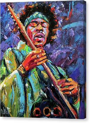 Hendrix Canvas Print by Debra Hurd