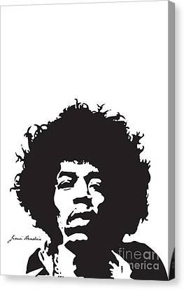 Hendrix No.01 Canvas Print by Caio Caldas