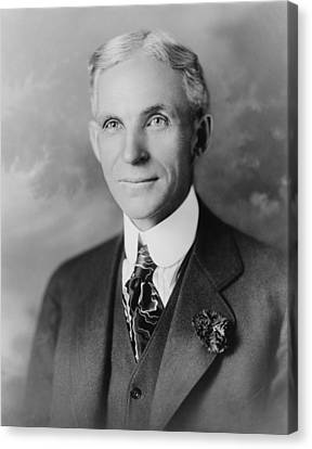 Henry Ford 1963-1947, Founder Of Ford Canvas Print by Everett