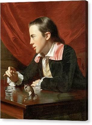 Henry Pelham Boy With A Squirrel Canvas Print by John Singleton Copley