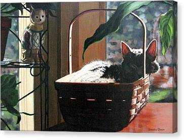 Her Basket Canvas Print by Sandra Chase
