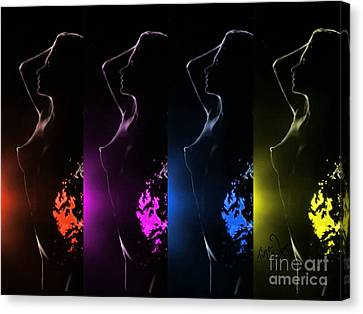 Her Colorfulday Canvas Print by Tina Cruz