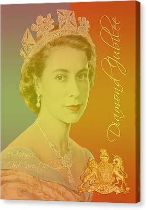 Her Royal Highness Queen Elizabeth II Canvas Print by Heidi Hermes