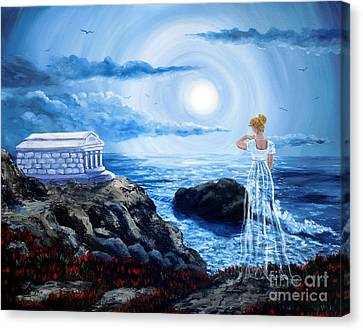 Her Tomb By The Sounding Sea Canvas Print by Laura Iverson