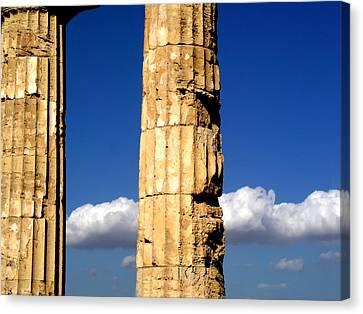 Hera Temple - Selinunte - Sicily Canvas Print by Silvia Ganora