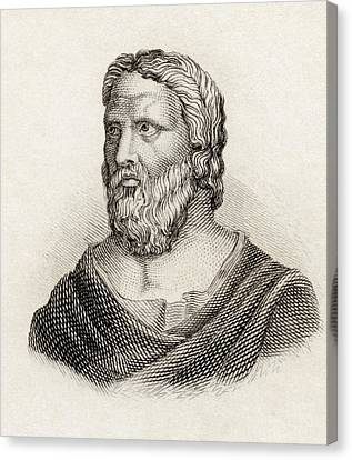 Heraclitus Of Ephesus Aka The Obscure Canvas Print by Vintage Design Pics