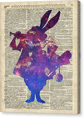 Herald Purple Rabbit Canvas Print by Jacob Kuch