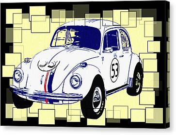 Herbie The Love Bug Canvas Print by Bill Cannon