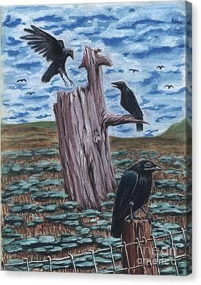 Here Come The Nieghbors Canvas Print by Gail Finn