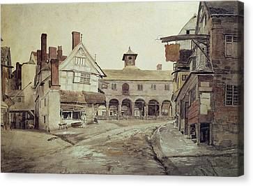 Hereford Canvas Print by Cornelius Varley