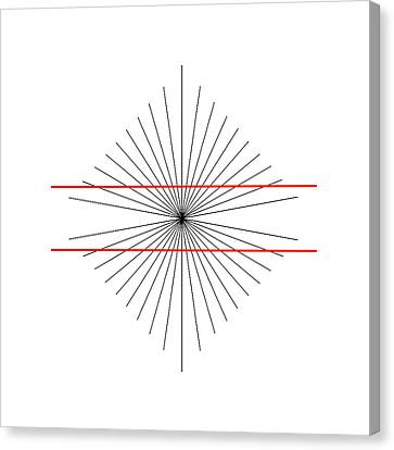Hering Illusion Canvas Print by
