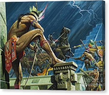 Hernando Cortes Canvas Print by Severino Baraldi