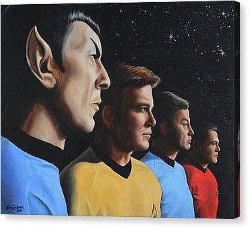 Heroes Of The Final Frontier Canvas Print by Kim Lockman
