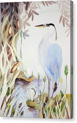 Heron Canvas Print by Rachel Osteyee