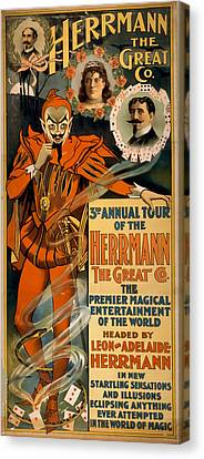 Herrmann The Great Canvas Print by David Wagner