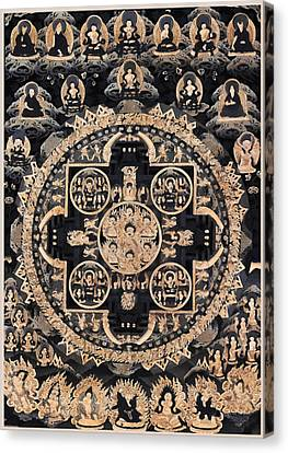 Heruka Yab Yum Mandala Canvas Print by Lanjee Chee