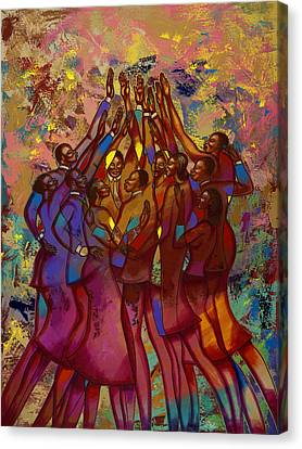 He's Worthy To Be Praised  Canvas Print by Larry Poncho Brown
